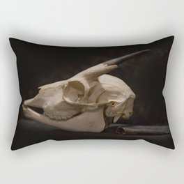 White Tail Deer Skull Rectangular Pillow