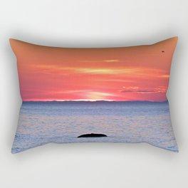 The Rock, The Sea and The Setting Sun Rectangular Pillow