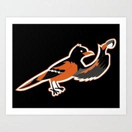 Hello BirdO Art Print