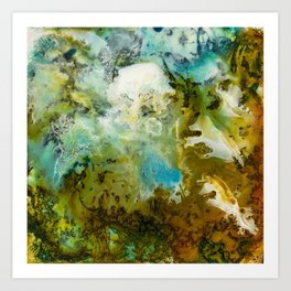 Two Worlds Abstract Colorful Art Art Print