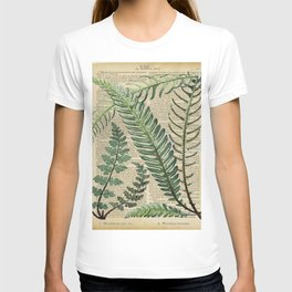 Book Art Page Botanical Leaves T-shirt