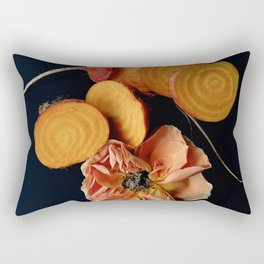 Moody Orange Beets and Rose Rectangular Pillow