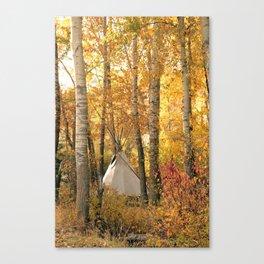 Autumn Tipi Canvas Print