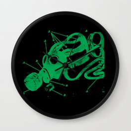 Green Mask Wall Clock