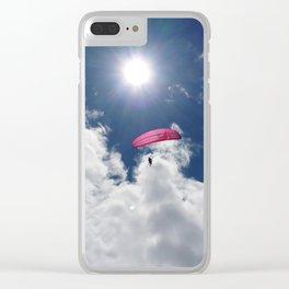 Parapente @ Chamonix Clear iPhone Case