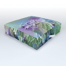 Wild Nature Glitch - Blue, Green, Ultra Violet #nature #homedecor Outdoor Floor Cushion
