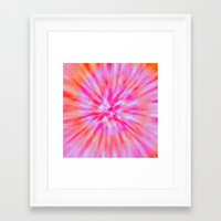 tie dye Framed Art Prints featuring TIE DYE by Nika