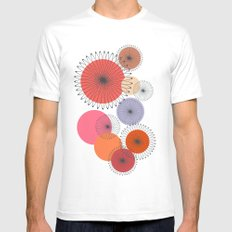 Spiral Flowers MEDIUM White Mens Fitted Tee
