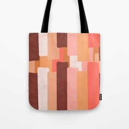 Line In Coral #society6 #abstractart Tote Bag