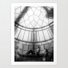 Behind the clockface of Big Ben Art Print