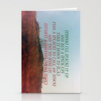 """neil young Stationery Cards featuring """"Out On The Weekend"""" by Neil Young by Melissa Martinez"""