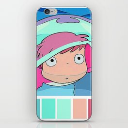 Ponyo on the cliff iPhone Skin