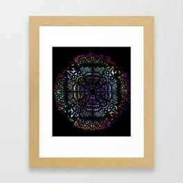 Stained Glass Mandala Framed Art Print