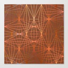 ELEGANT TERRACOTTA OCKER DIAMONDS Canvas Print