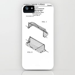 Water Polo Goal Vintage Patent Hand Drawing iPhone Case
