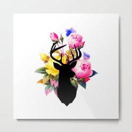 Floral Buck Metal Print