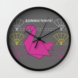 Konnichiwa 4 Wall Clock