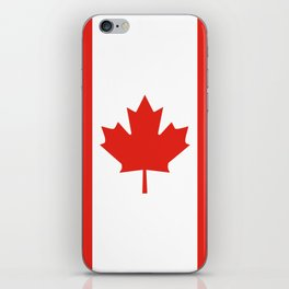Red and White Canadian Flag iPhone Skin