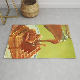 Pour some syrup on me - Breakfast Waffles Rug