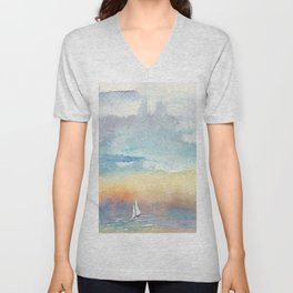 If the Wind is Right #Society6 #watercolor #ocean Unisex V-Neck