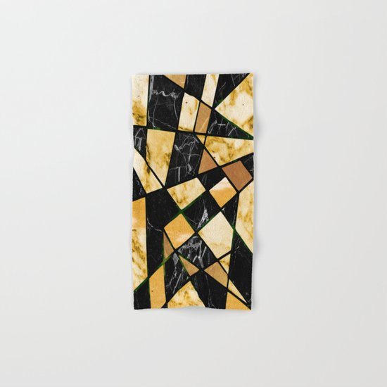 Abstract #460 Marble and Metal Hand & Bath Towel