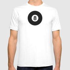 Billiard - Balls Serie MEDIUM White Mens Fitted Tee