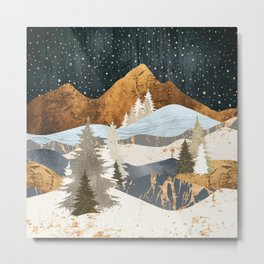 Winter Stars Metal Print