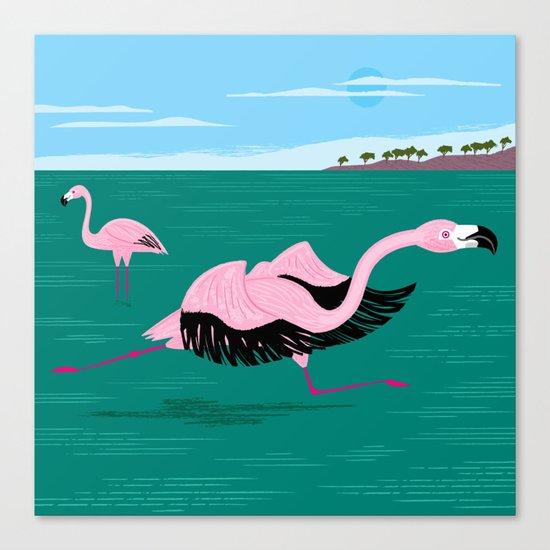 Go Flamingo Go Canvas Print