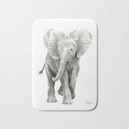 Baby Elephant Watercolor Bath Mat