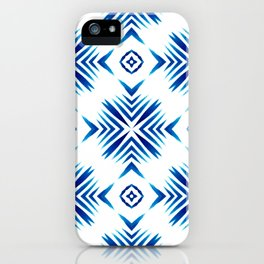 Shibori Blue Watercolour No.15 iPhone Case