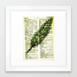 quill n. Framed Art Print