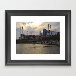 Cincy River Boat Framed Art Print