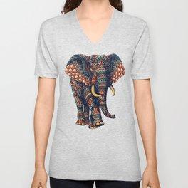 Ornate Elephant v2 (Color Version) Unisex V-Neck