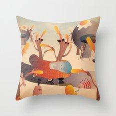 wurstel machine Throw Pillow
