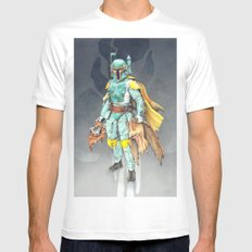 Star Wars Boba Fett and friends MEDIUM White Mens Fitted Tee