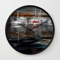 ships Wall Clocks featuring Ghost Ships by Paul & Fe Photography