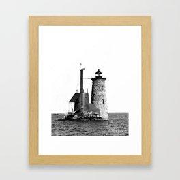 Whaleback Lighthouse Framed Art Print