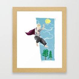 The man who has no imagination has no wings. Framed Art Print