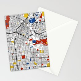 Los Angeles Mondrian Stationery Cards
