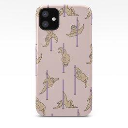Sloths Pole Dancing Club iPhone Case
