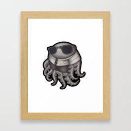 Octopus with sunglasses Framed Art Print
