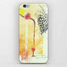 Red or White — That Is the Question. iPhone Skin