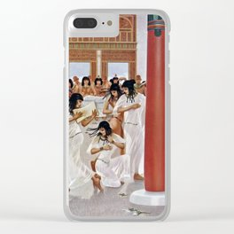 "Classical Masterpiece ""The Court of Pharaoh and the High Priestess"" by H.M. Herget Clear iPhone Case"
