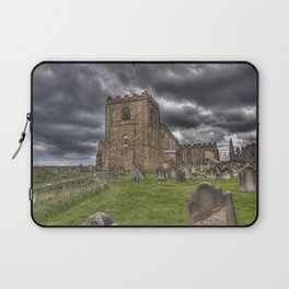 St. Mary's Church in Whitby on the Yorkshire Coast in England Laptop Sleeve