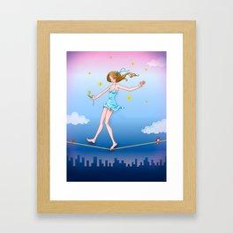 Care free Framed Art Print