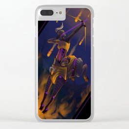 Cyber Centaur Clear iPhone Case