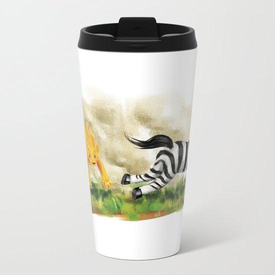 Lion & Zebra Metal Travel Mug
