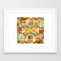 kaleidoscope Framed Art Prints featuring Kaleidoscope by Tammy Kushnir