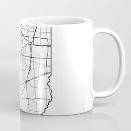 Illinois White Map Coffee Mug