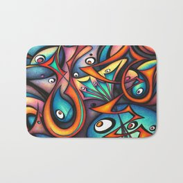 Abstract painting Clarion Calls Bath Mat